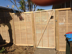 Fence and gate installed