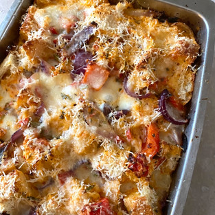 Spicy Italian Style Bread Pudding