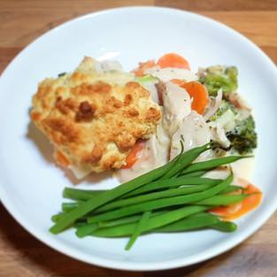Leftover Chicken Cobbler