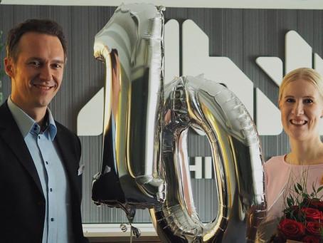 Hill Auditin toimitusjohtaja Päivi Rönkkö työskennellyt yhtiössä 10 vuotta!