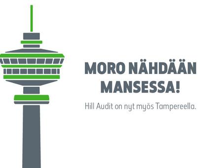 Hill Audit laajenee Tampereelle - Tilintarkastus Mäkinen & Co yhdistyy osaksi Hill Auditia