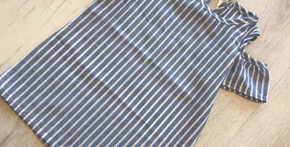 Blue & White Striped Day Dress