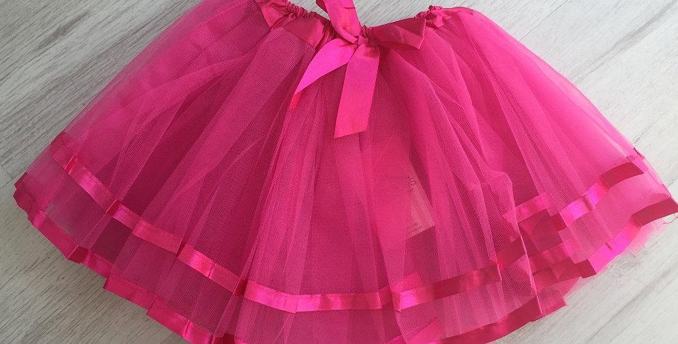 Ribbon Tutu Dark Pink