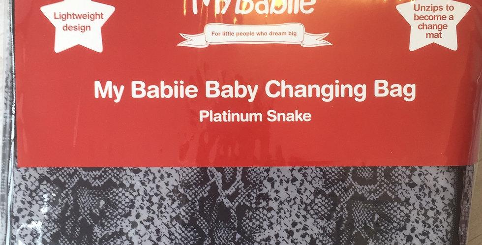 My Babiie Platinum Snake Changing Bag