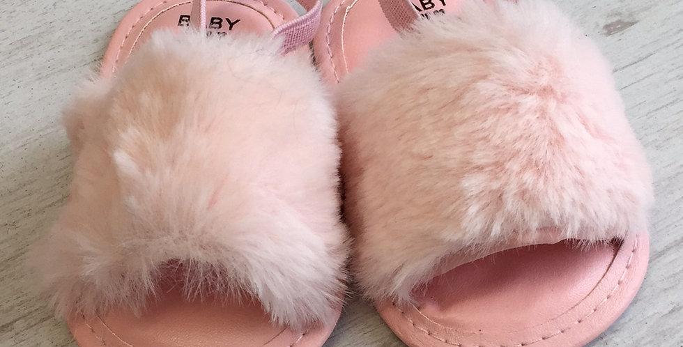 Fluffy Pink Baby Sliders