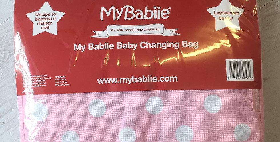 My Babiie Pink Polka Changing Bag