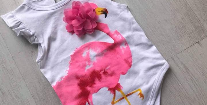 Pink Flamingo Romper