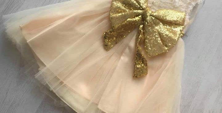Poppy Lace Lemon Dress