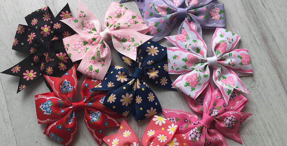 Floral Print Bow