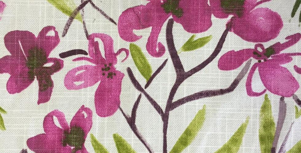 Watercolor Botanical - Pink/Green