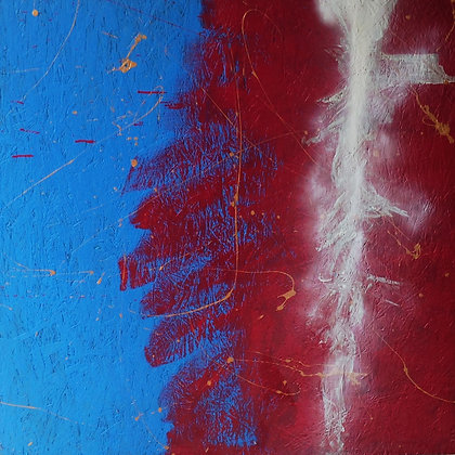 Red Blue White Abstract Painting