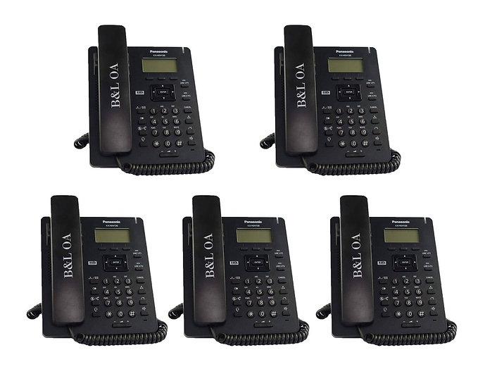 KX-HDV130XB (สีดำ)(Pack 5) Panasonic SIP Phone,PoE 2 Ports (HeadsetRJ9)
