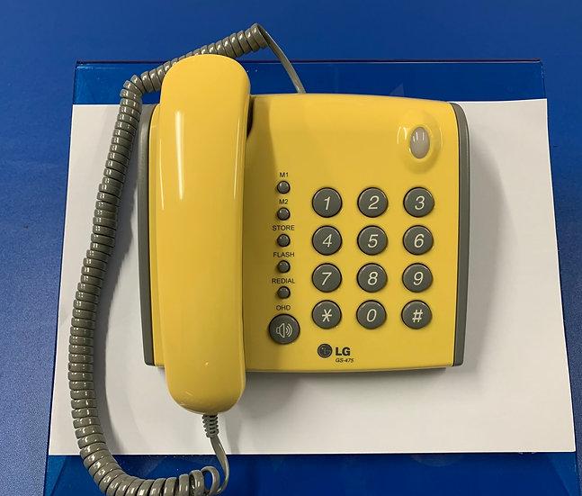 GS-475  โทรศัพท์อนาล็อก  LG  Single Line Phone (Yellow)