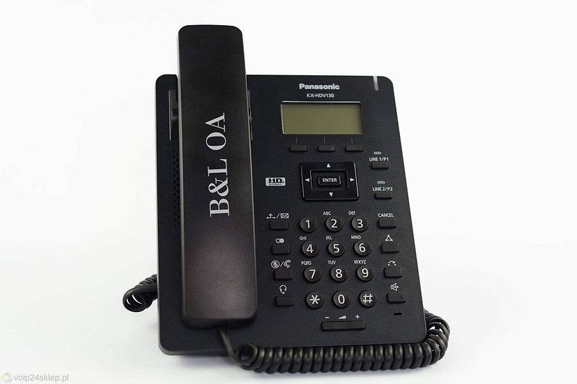 KX-HDV130XB (สีดำ) Panasonic SIP Phone,PoE 2 Ports (HeadsetRJ9)