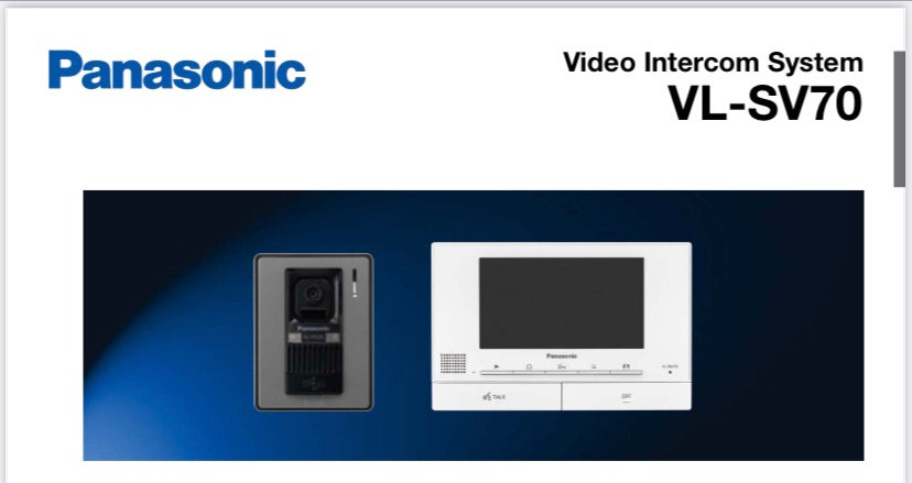 "VL-SV70BX  (NEW) VDO Intercom Wide Monitor 7"" (VL-MV70BX+ VL-V522BX)"