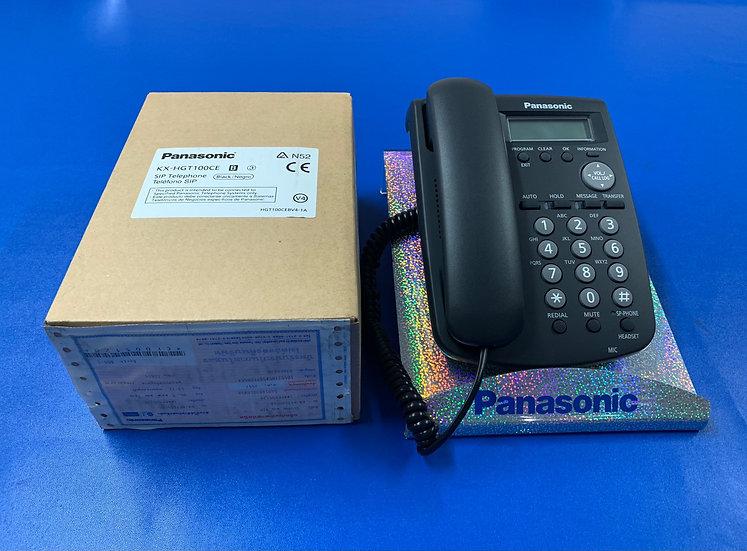 KX-HGT100 (สีดำ)  Panasonic SIP Phone,2 SIP Account,PoE 2 Ports,Headset Port