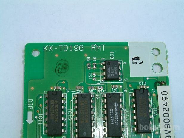 KX-TD196 Remote Online Card 28.8 Kbps for KX-TD1232/816
