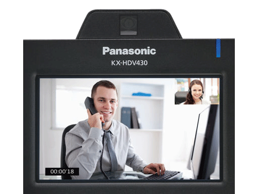 KX-HDV430XB (สีดำ) Panasonic SIP Phone,VDO,Bluetooth (Gigabit) PoE 2 Ports