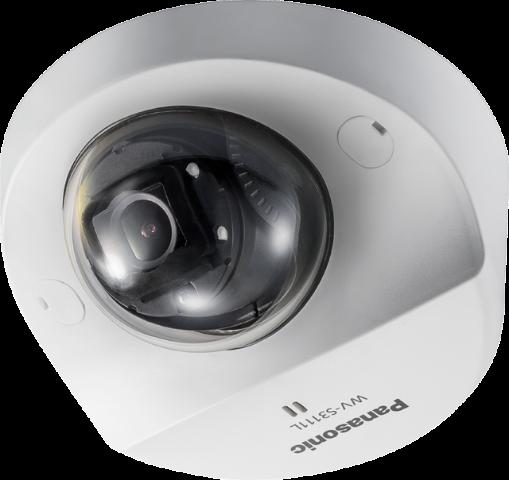 WV-S3111L Panasonic iA H.265 Compact IP Dome,HD,Super Dynamic, IR-LED