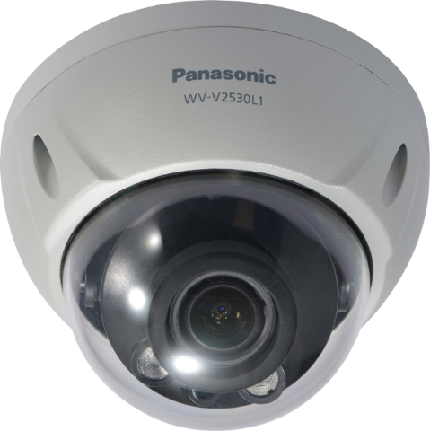 WV-V2530L1 Panasonic Full HD Dome,H265,IP66,IR 30m,Varifocal 2.7-12 mm
