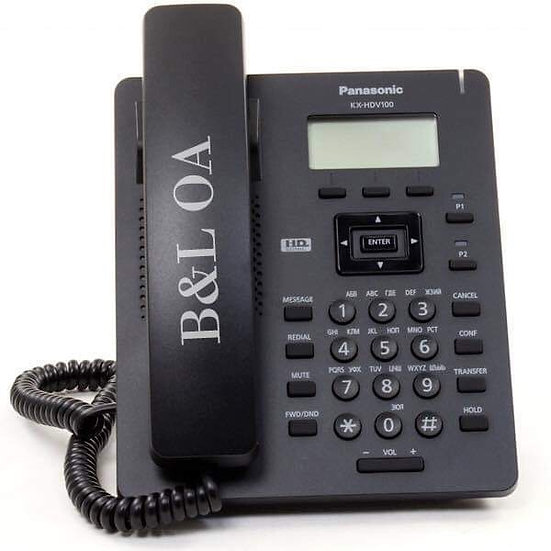 KX-HDV100XB (สีดำ) Panasonic SIP Phone LAN 1 Port (Include Adaptor)
