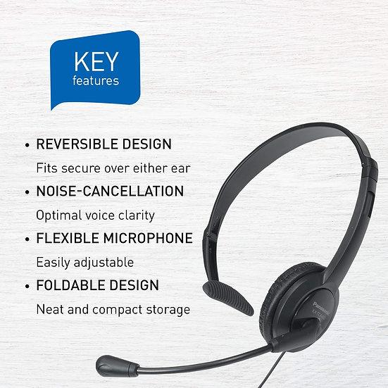 RP-TCA400 Panasonic Headset Reversible and Foldable Design