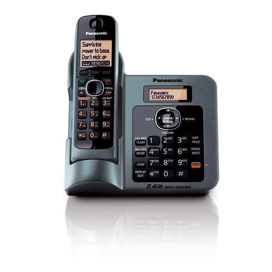 KX-TG3811BXM  Cordless Phone 2.4 GHz.Caller ID,Intercom (Mettalic)