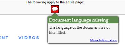 Document language missing (3.1.1)
