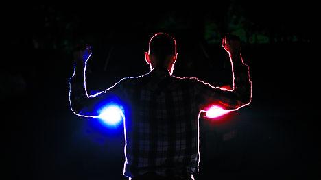 silhouette of  a male  criminal suspect