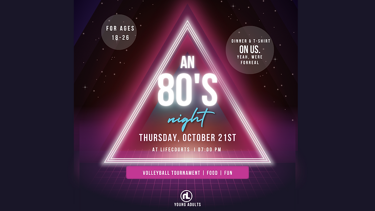 NL Young Adults: An 80's Night.