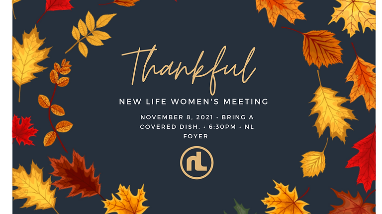 Monthly ladies meeting: THANKFUL.