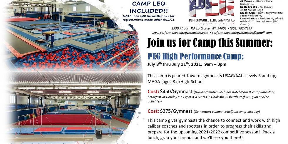 PEG High Performance Camp 2021