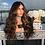 Thumbnail: Amber Brown Human Hair Blend Wig