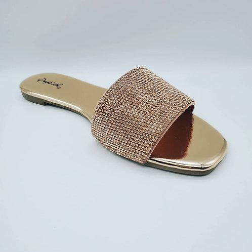 Ladies Gold Slippers