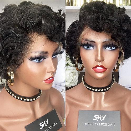 130% Natural Vrigin Pixie Cut Wig