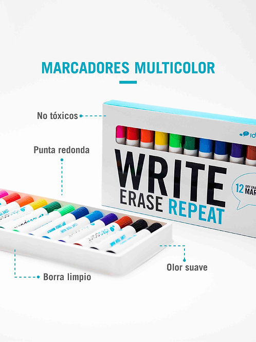 Marcadores Ideapaint 12 colores