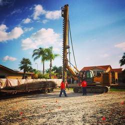 Great way to start the week! Pile  driving day on new custom construction project in Eastern Shores