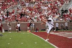 Trinity Kicking instructor kicking at Florida State