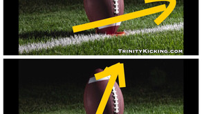 How to Kick A Football with more distance, hang time, and lift.