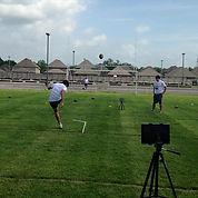 Kickers learn to analyze their kicking film to perfect kicking technique.