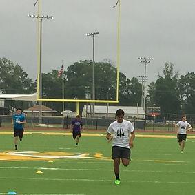 Trinity Kicking punters workout harder than anyone at the Louisiana Kicking Camp.