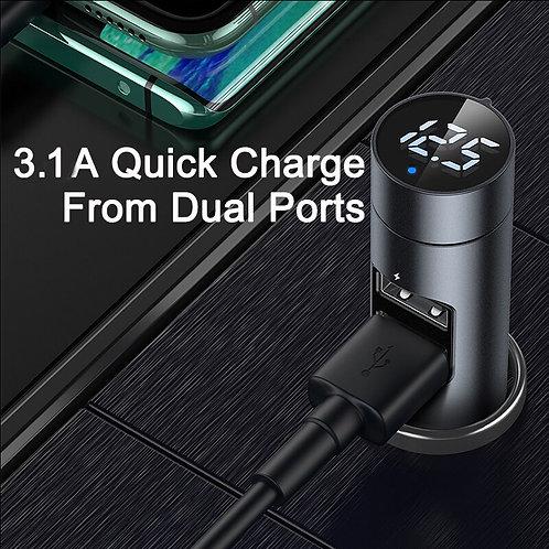 FM Transmitter Modulator Bluetooth 5.0 with Charging ports