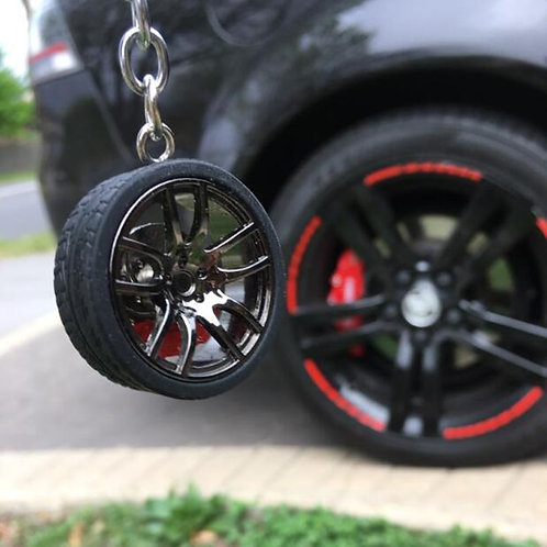 Wheel With Brake Discs Keychain