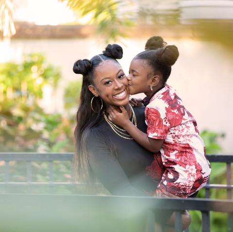 Tampa Florida Mommy Daughter Session Botanical Gardens