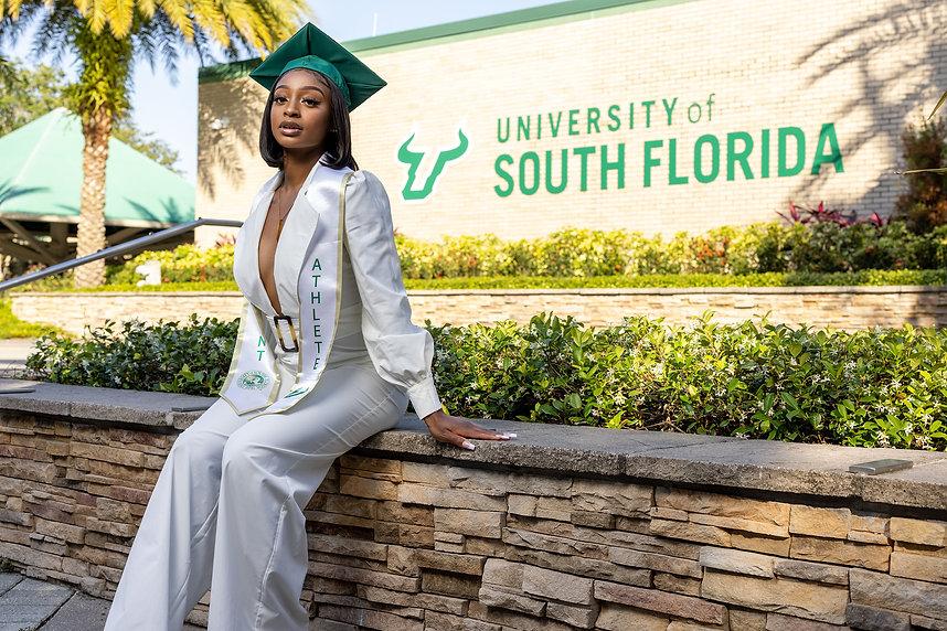 Graduation Photo Taken At University Of South Florida in Tampa Florida.