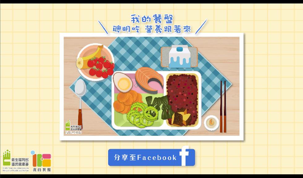 《我的餐盤》 網頁遊戲