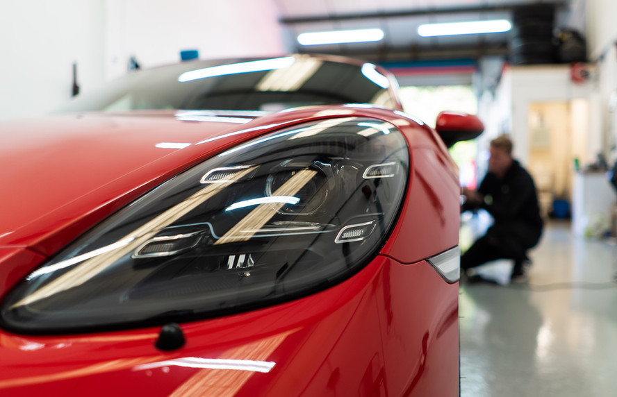 Paint Protection Film on Headlight and Paintwork