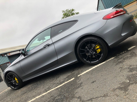 Full matte grey wrap & custom colour coded calipers
