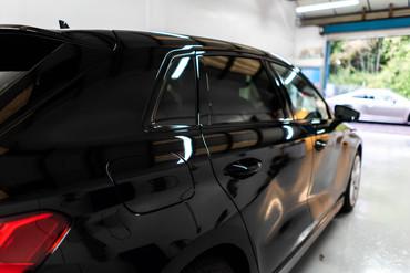De-chromed window trim
