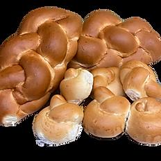 Shabbat Package Deal: 2 Sweet Challah, 1 pk Sweet Rolls & 2 Desserts